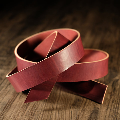 Wickett & Craig - Burgundy Harness 9-11oz CUSTOM STRAP LENGTHS