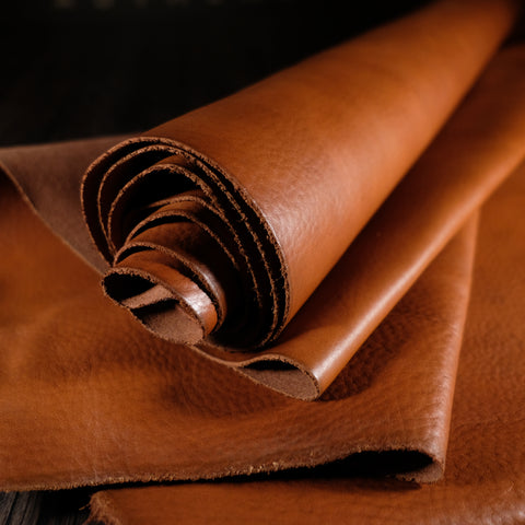 Horween Leather - Essex Yukon Print Light Cognac 3-4oz