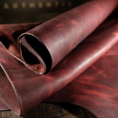 Horween Leather - Burgundy Chromepak 5-6oz