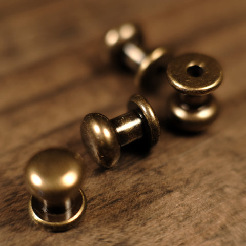 Collar Button Stud - B20 - Antique Brass