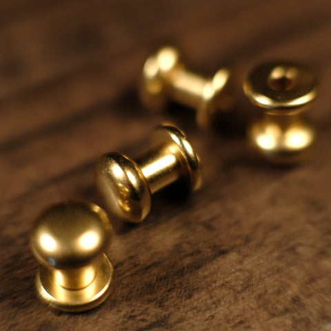 Collar Button Stud - B20 - Solid Brass