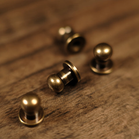 Collar Button Stud - B16 - Antique Brass