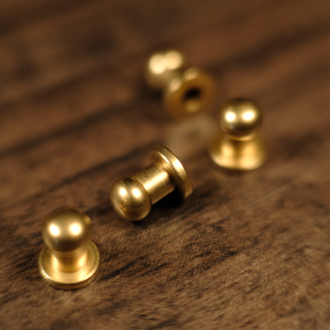 Collar Button Stud - B16 - Solid Brass