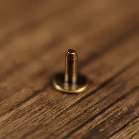 Back Post - Collar Button Stud - Antique Brass