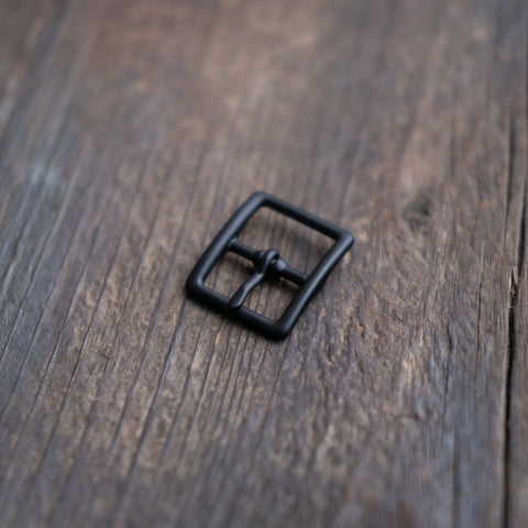 Center Bar Buckle Black Matte 3/4""