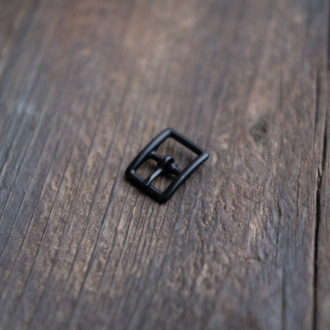 Center Bar Buckle Black Matte 1/2""