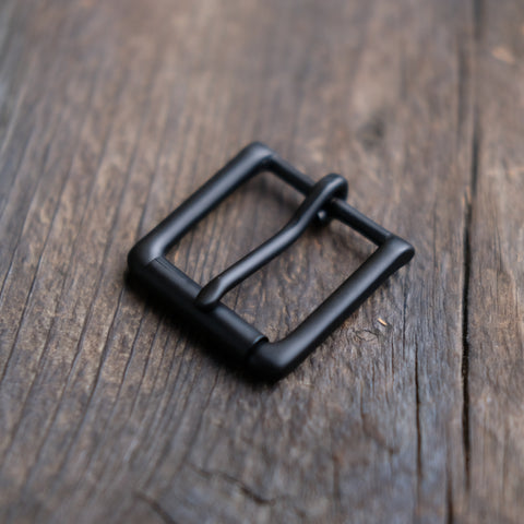 Heel Bar Roller Buckle Black Matte 1-1/4""