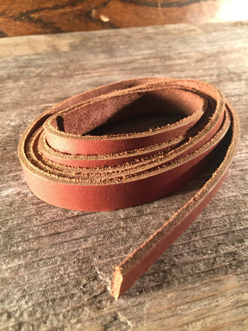 "Auburn Saddle String Strap 1/2"" - Brown Latigo"