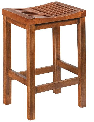 24 Inch Cottage Oak Bar Stool Tempo Clearance