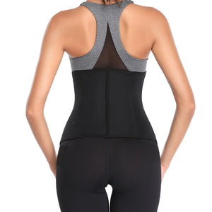 Women Waist Trainer Body Shaper with Zipper Clincher Corset Top Slimming Belt - LadyBeast