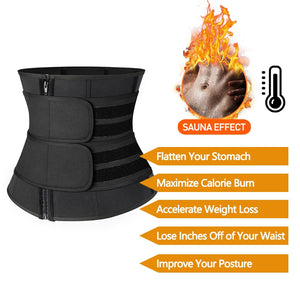 Women's Steel Boned Waist Corset Trainer Sauna Sweat Sport Girdle Weight Loss Lumbar Shaper - LadyBeast