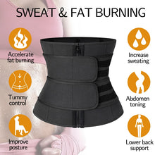 Load image into Gallery viewer, Women's Steel Boned Waist Corset Trainer Sauna Sweat Sport Girdle Weight Loss Lumbar Shaper - LadyBeast