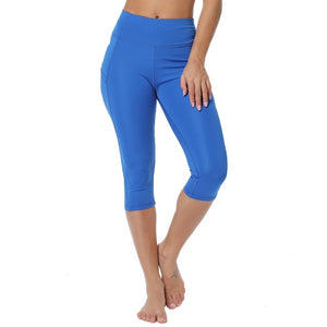 3/4 Yoga Pants women Calf-length Pants Capri Pant Sport leggings Women Fitness Yoga Gym High Waist Leggins Black Drop Shipping - LadyBeast