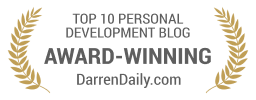 Award Winning Top 10 Personal Development Blog for DarrenDaily.com