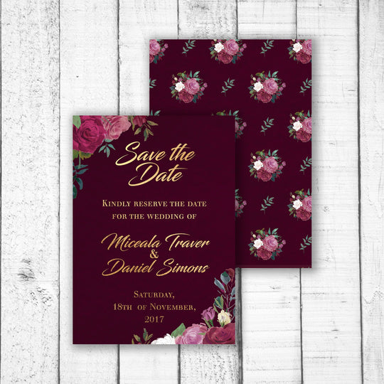 Romantic Roses Save the Date