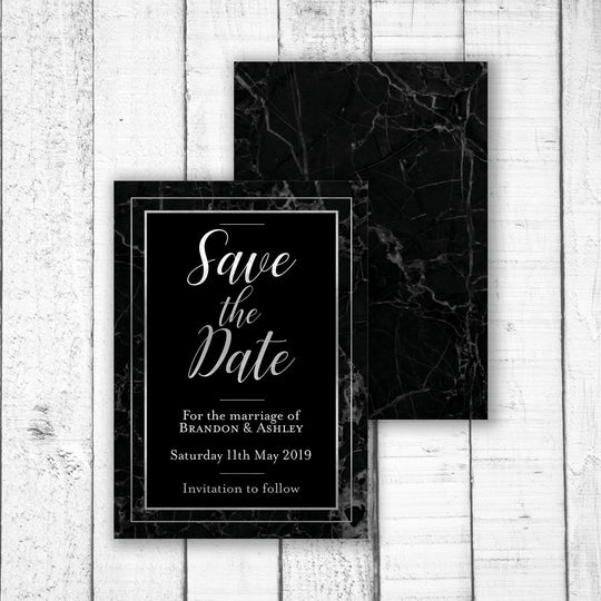 Classic Black Save the Date