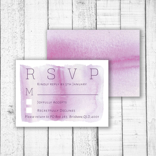 Light Watercolour RSVP