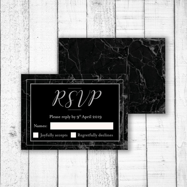 Classic Black Marble RSVP