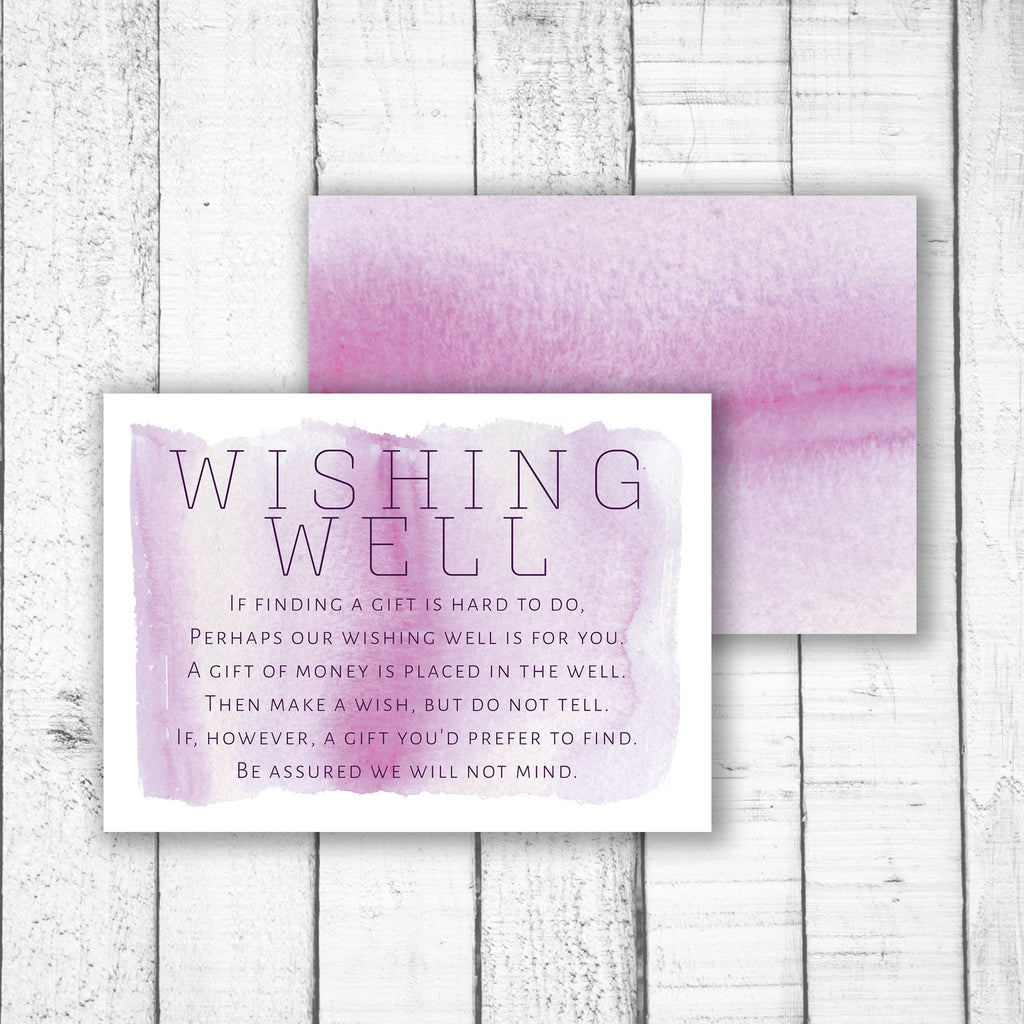 Light Watercolour Wishing Well Card