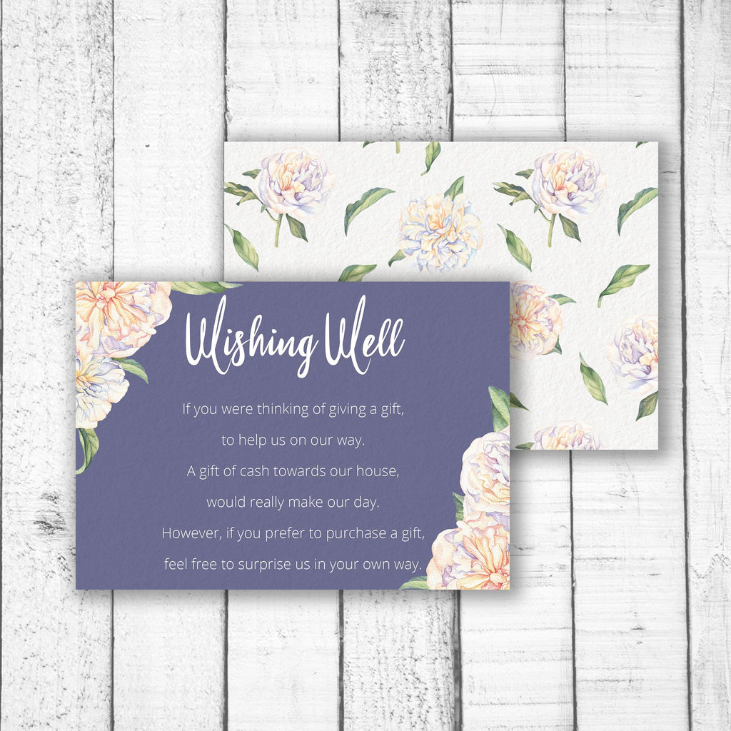 Sweet Peonies Wishing Well Card