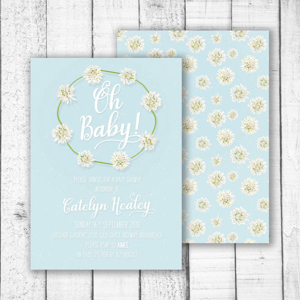 Clover Chain Baby Shower Invitation