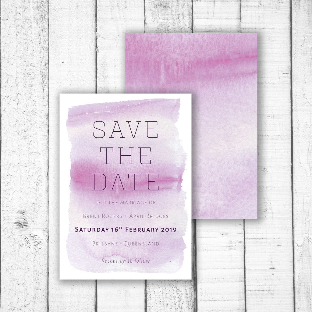 Light Watercolour Save the Date