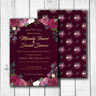 Romantic Roses Wedding Invitation