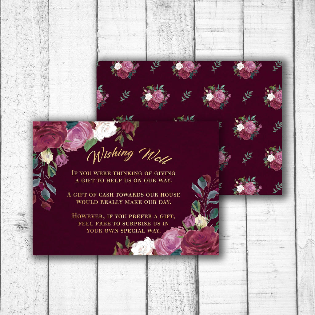 Romantic Roses Wishing Well Card