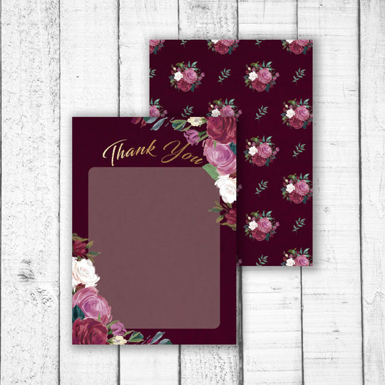 Romantic Roses A6 Thank You Card