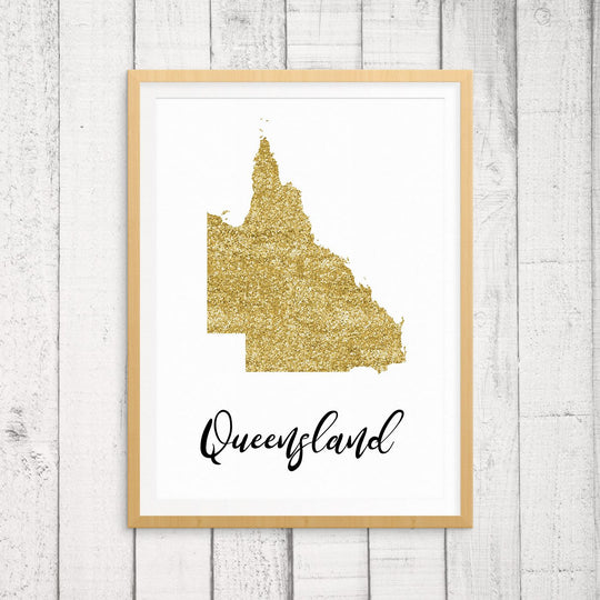 Australian State Wall Art - Queensland