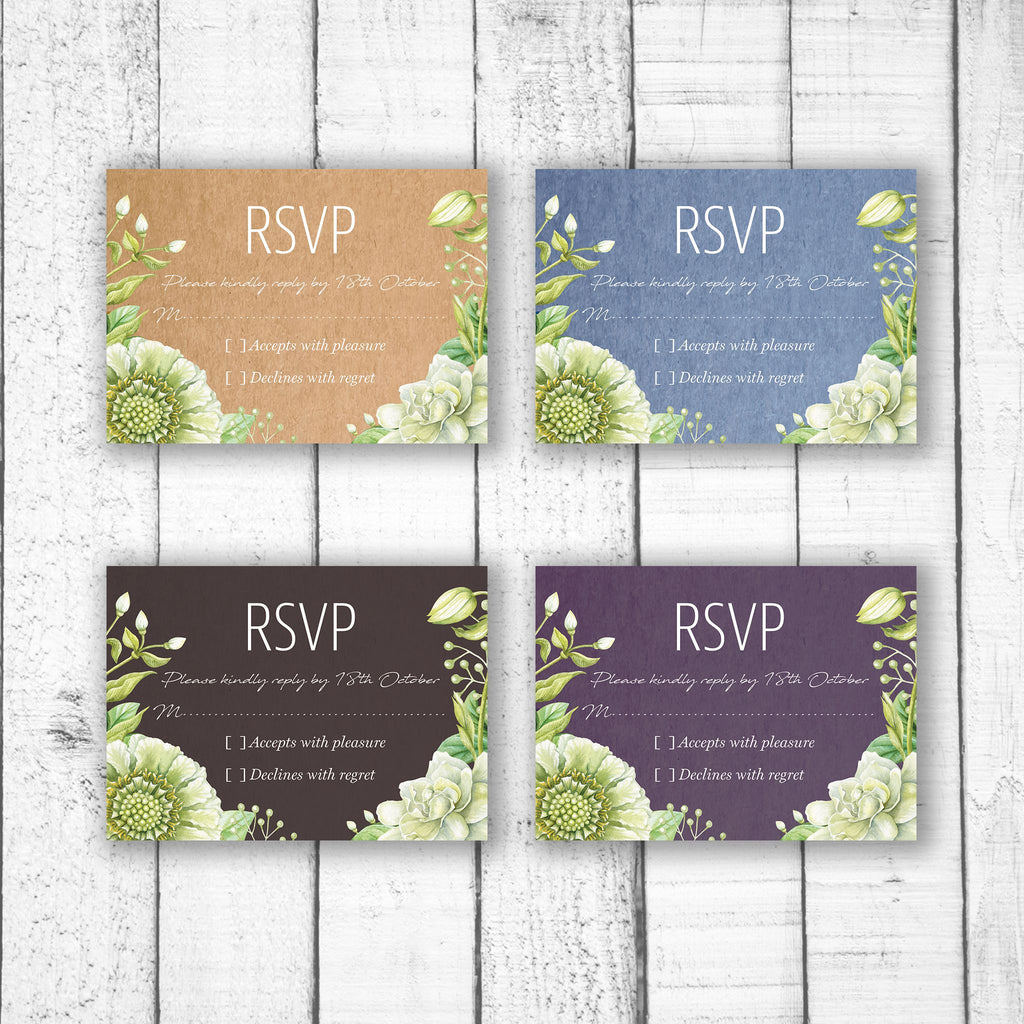 Green Foliage & Succulents RSVP