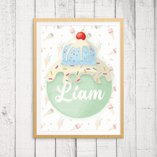 Custom Name Wall Art - Ice Cream