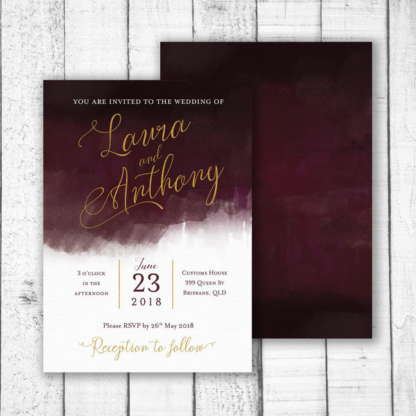 Luxe Watercolour Invitation