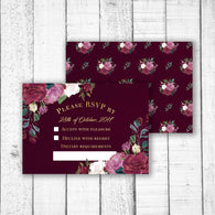 Romantic Roses RSVP Card