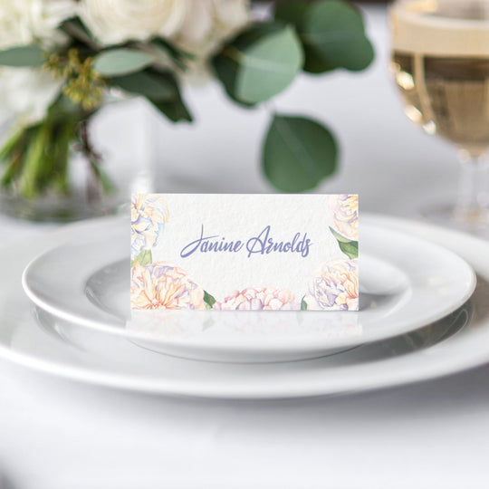 Sweet Peonies Place Card