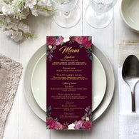Romantic Roses Menu