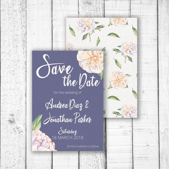 Sweet Peonies Save the Date