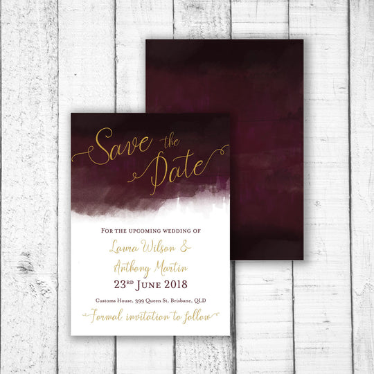 Luxe Watercolour Save the Date