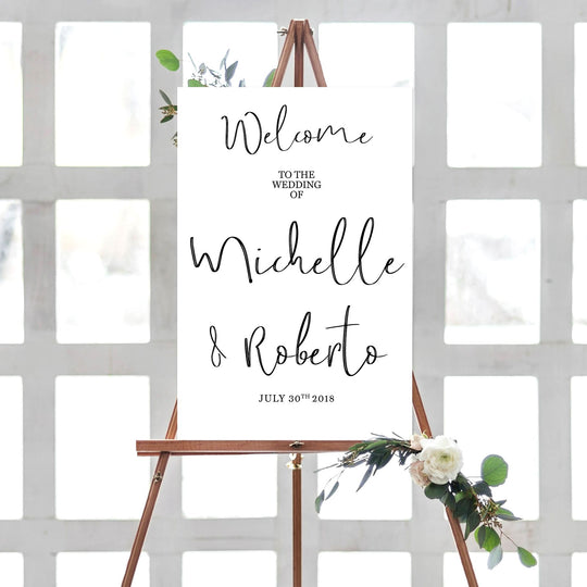 Custom Wedding Welcome Foamcore Sign