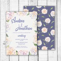Sweet Peonies Wedding Invitation