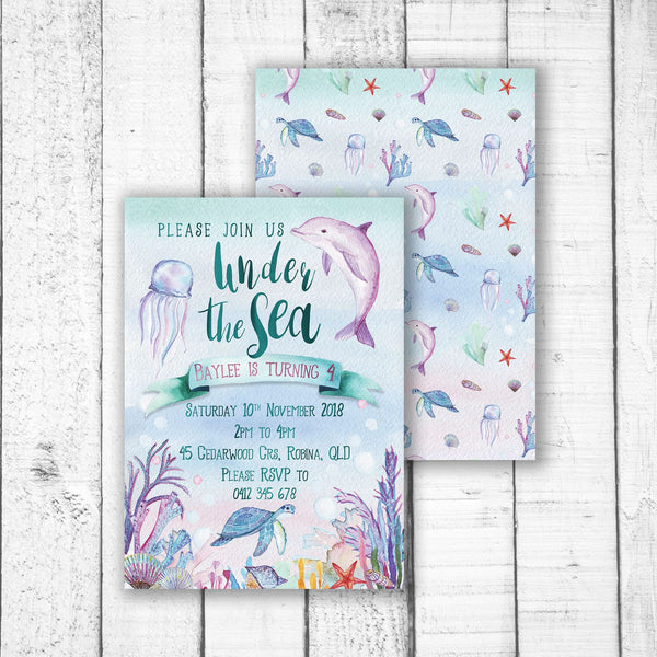 Under the Sea Party Invitation