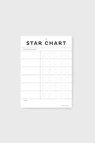 Father Rabbit A4 Star Chart