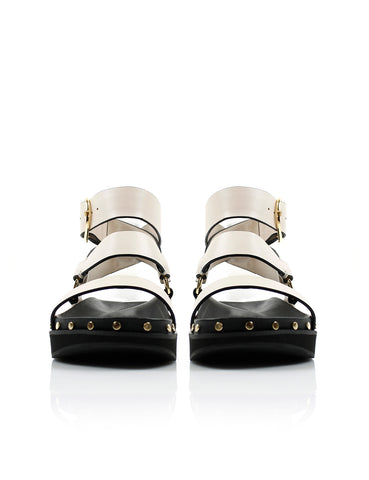 Studded Sandal - Bone