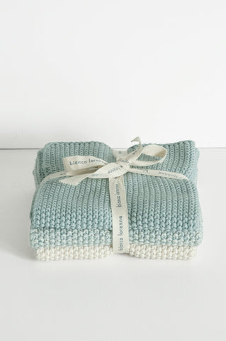 Washcloths - Duck Egg