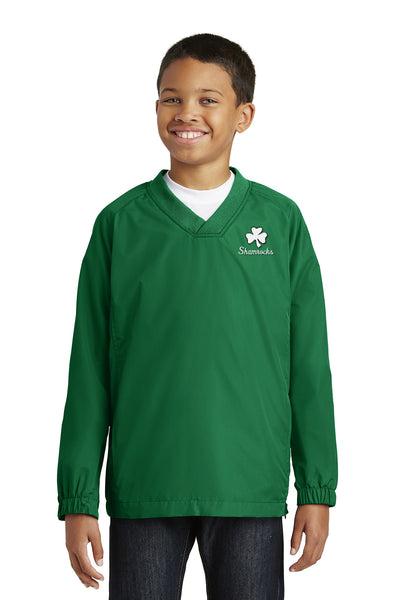 Sport-Tek® Youth V-Neck Raglan Wind Shirt - Youth