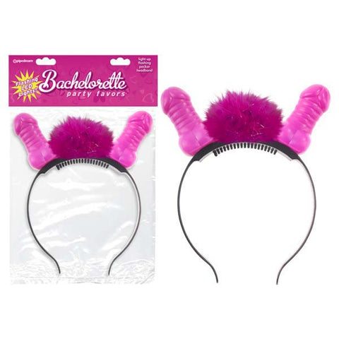 Fachelorette Party Favors Flashing Light-Up Pecker Headband