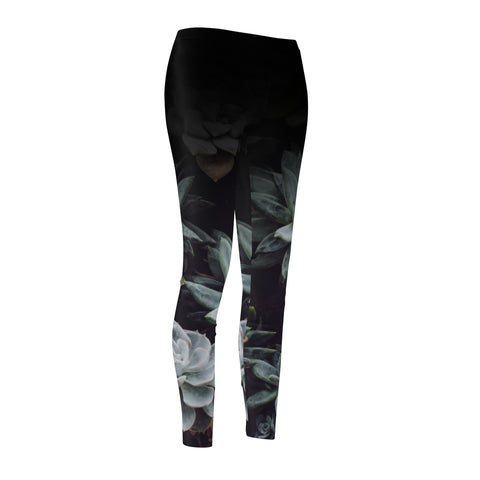 Casual Succulent Women's Cut & Sew Casual Leggings