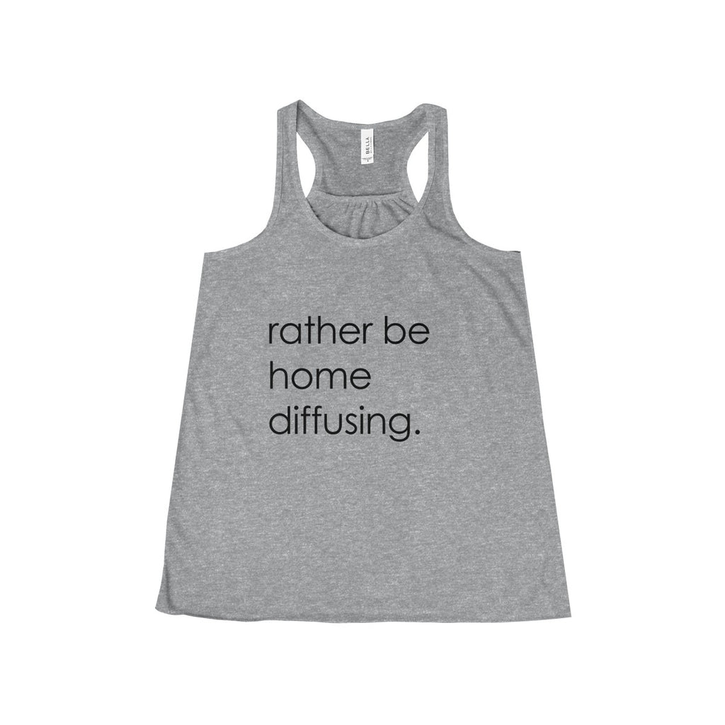 Rather be diffusing - Women's Flowy Racerback Tank
