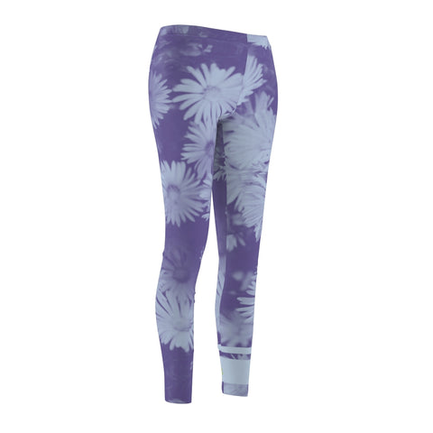 Lunar Floral - Women's Cut & Sew Casual Leggings