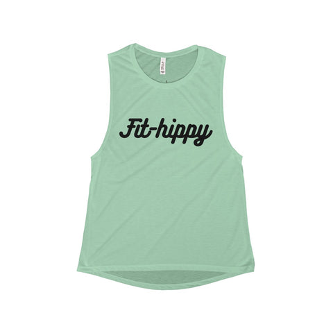 Fit-Hippy - Flowy Scoop Muscle Tank